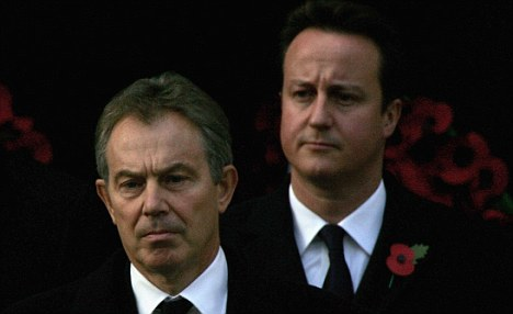David Cameron and Tony Blair