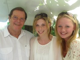 Roger Moore & girls