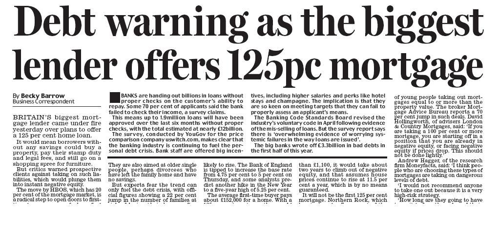 Daily Mail, November 7, 2006