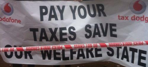 Vodafone tax bill protest