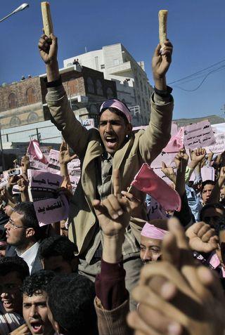 AY57190555A Yemeni demonstr