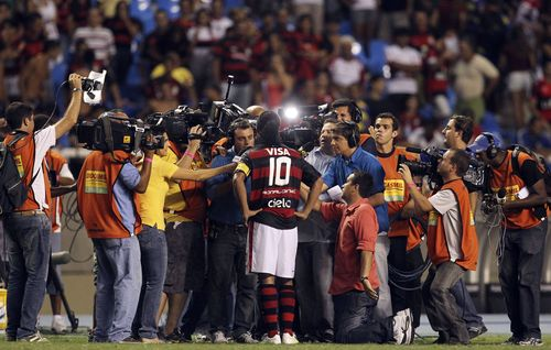 Ronaldinho centre of attention