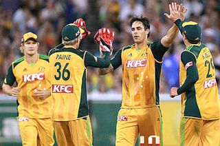 Mitchell Johnson has his moment in the Twenty20