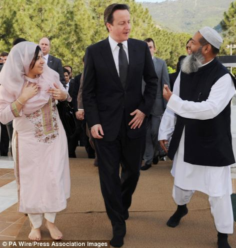 David Cameron and Baroness Warsi