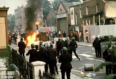 Rioting in Brixton