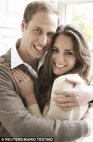 William and kate young love