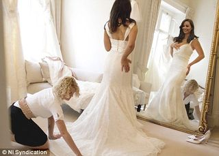 Kate wedding dress spoof