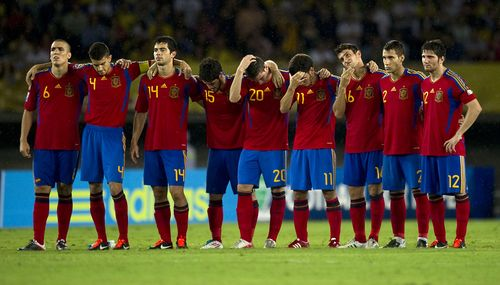 Spain lose on penalties