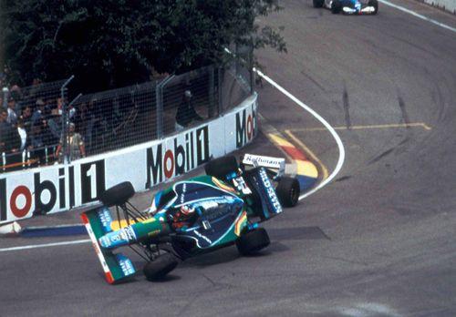 Schumacher hill crash