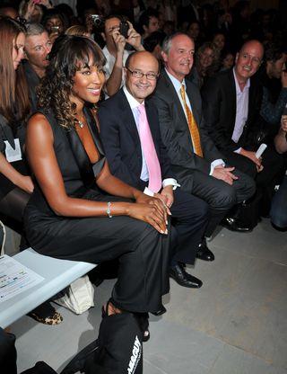 Naomi Campbell front row