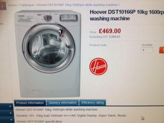 Washing machine comparison