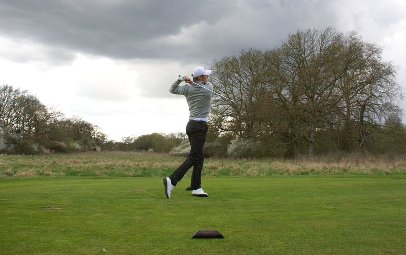 Chris Wood on the course