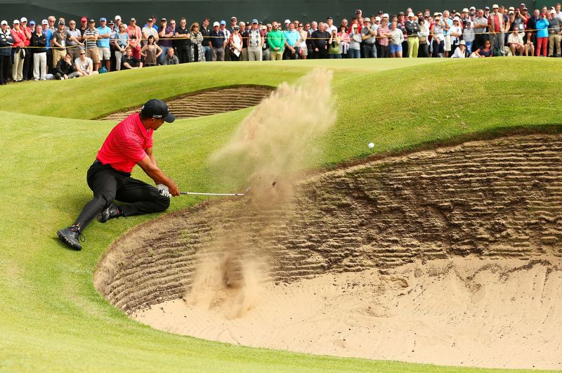 Tiger bunkered