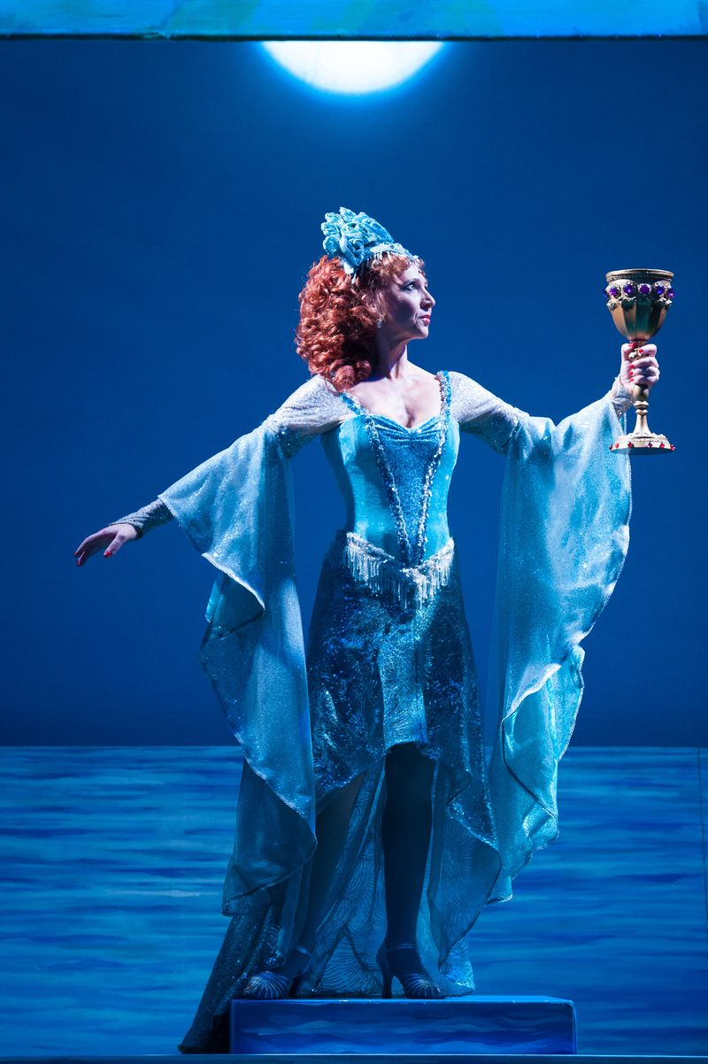Bonnie Langford as The Lady of the Lake in Spamalot  Photo Credit Manuel Harlan (2)