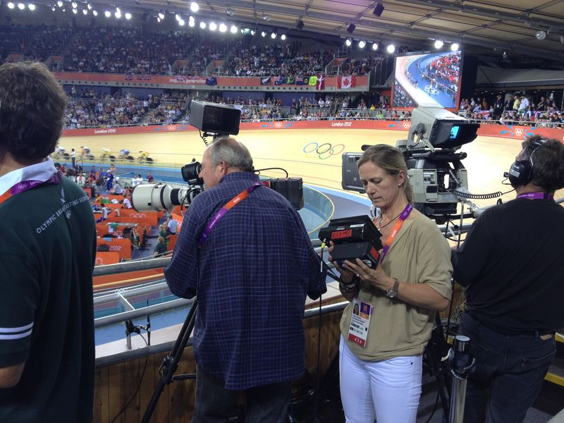 Production Still Caroline Rowland - Velodrome, Olympic Park