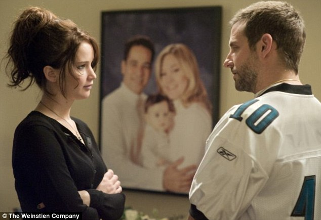 ece07e188b Jennifer Lawrence and Bradley Cooper both received Oscar nominations for  their parts in Silver Linings. '