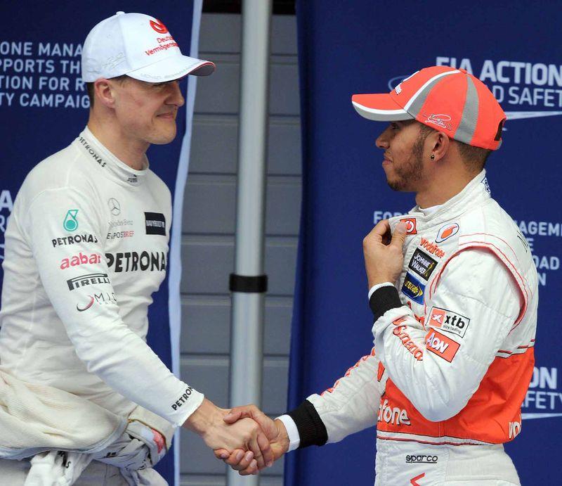 Hamilton and Schumacher