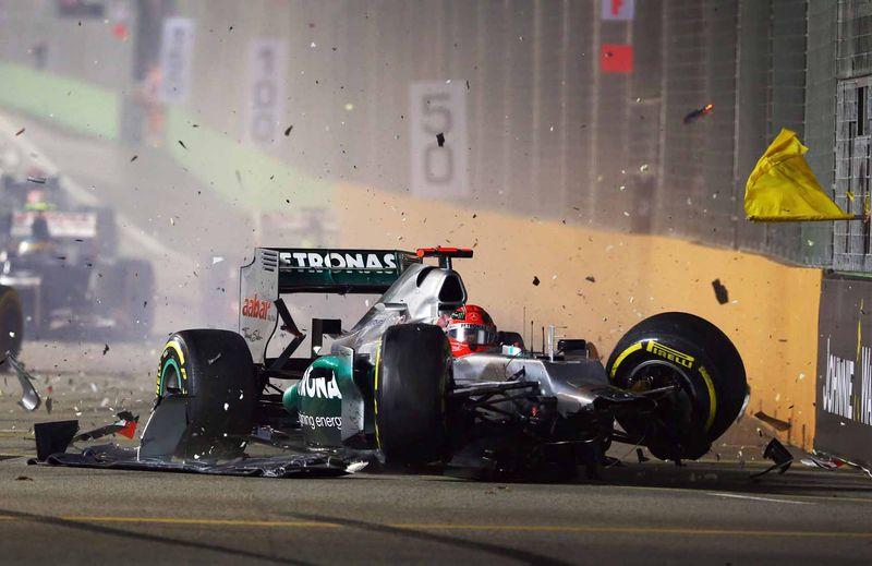 Schumacher crash