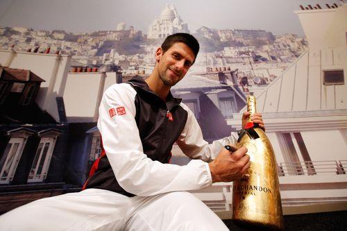 Novak Djokovic  Golden Moet Methuselah 32 (2)