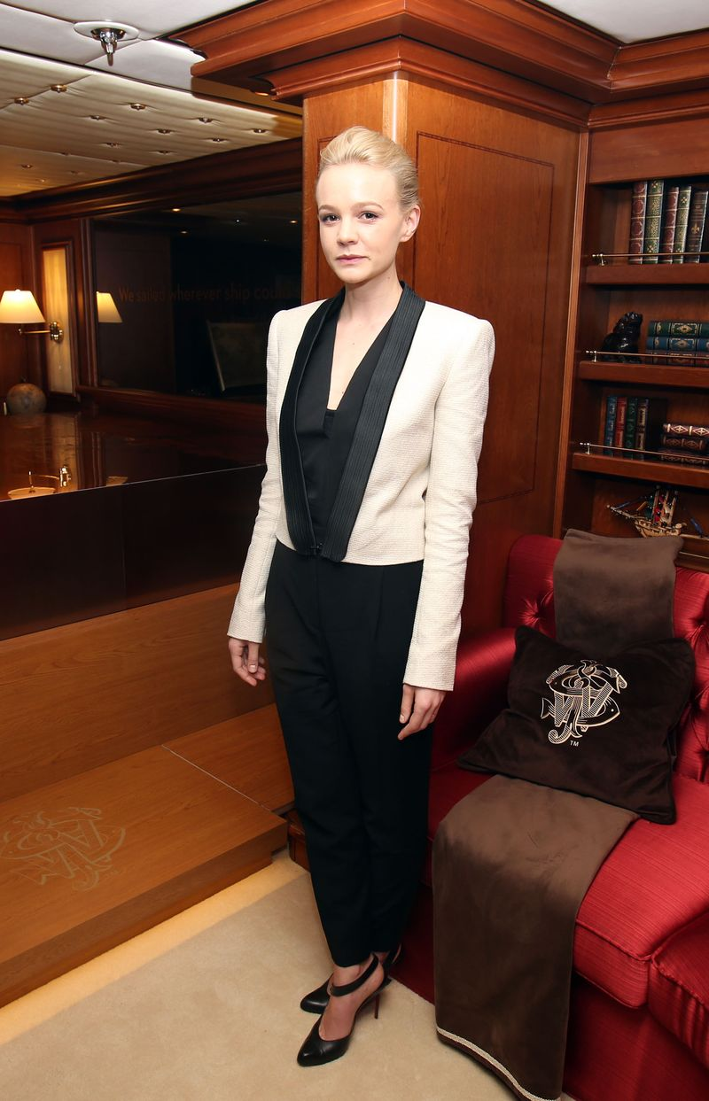 Carey Mulligan attends Flaunt Magazine party aboard John Walker & Sons Voyager yacht in association with Raffles Chelsea, at the Cannes Film Festival (1)