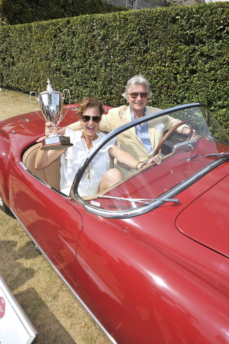 39. Winning car and trophy, Yasmin Le Bon, Arnaud M Bamberger