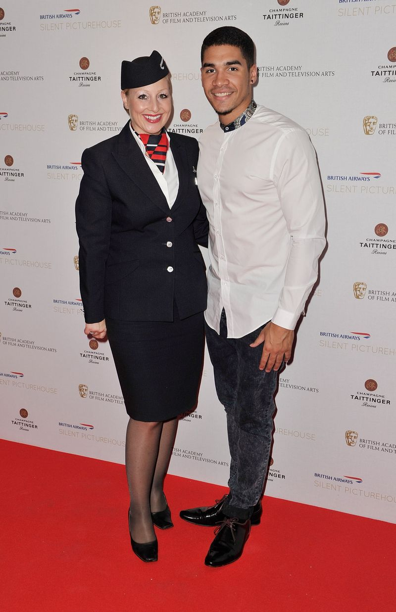 Louis Smith at BA Silent PIcturehouse and BA crew (C) Gareth Cattermole Getty (4)