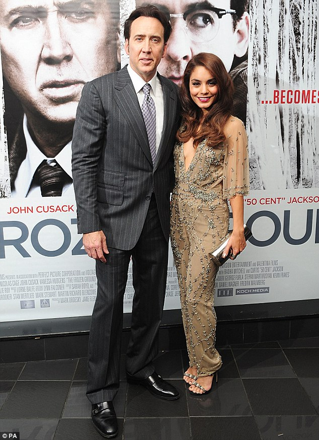 Vanessa hudgens dazzles at the frozen ground premiere mailonline vanessa and nic voltagebd Images
