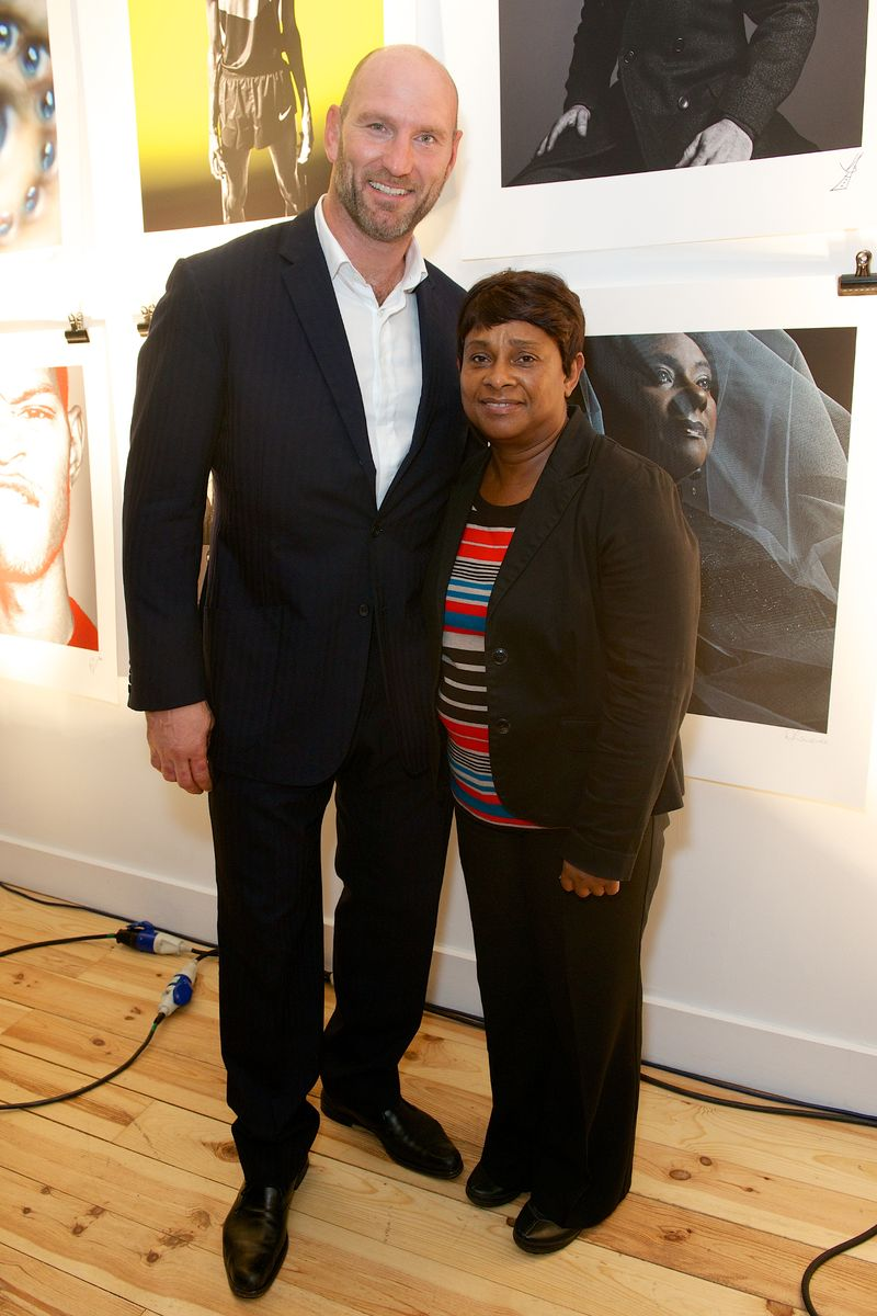 Lawrence Dallaglio with Doreen Lawrence [2]