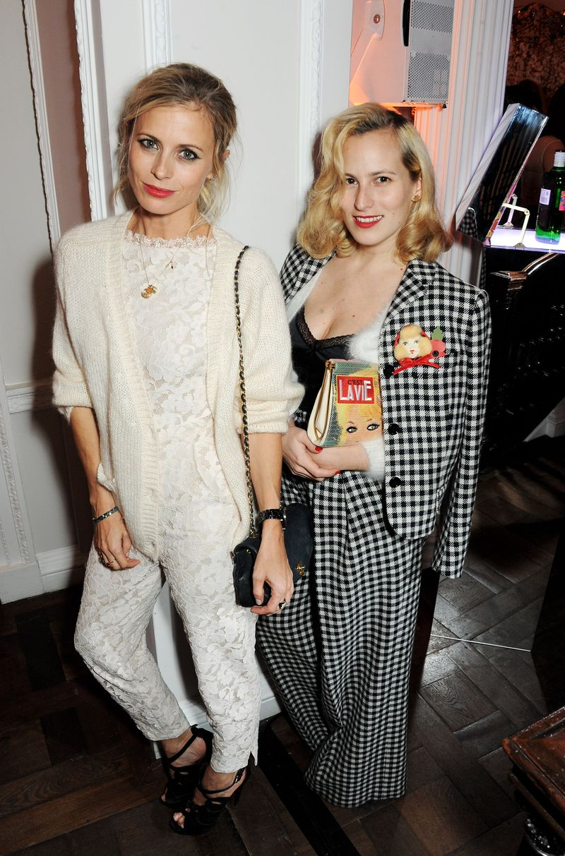 Laura Bailey and Charlotte Dellal at the Gordon's and Temperley launch party (2)