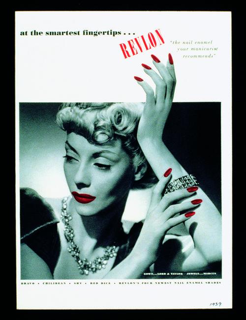 Vintage image revlon red