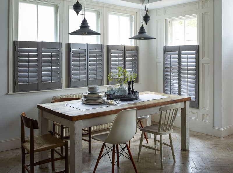 Shutterly Fabulous - Cafe Style Kitchen Shutters Elephant Grey  (2)