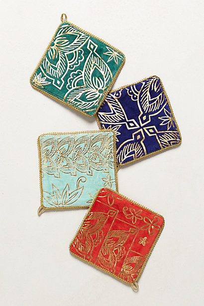 Anthrop jewel coasters