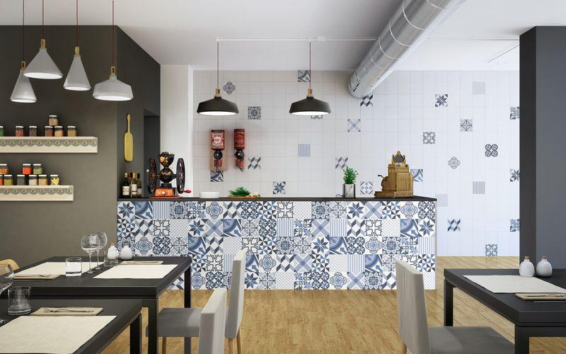 PT Piazza Tiles Dolce Blue porcelain tiles, 30 x 30cm, £72m2, 1
