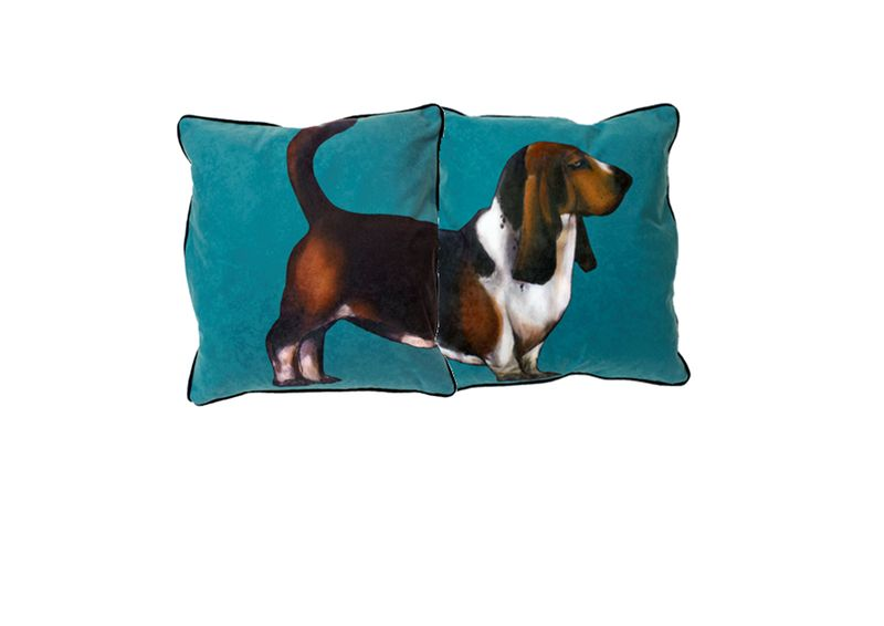 Pp Basset Hound Cushion by Jimmie Martin from www.PetsPyjamas.com £190