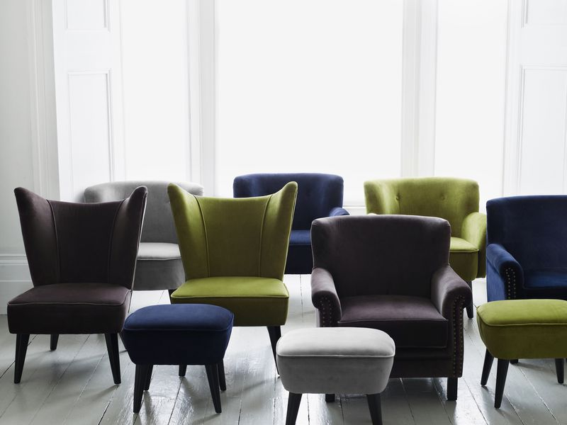 Brissi - Armchair and footstool collection from £245 for a footstool to £645 - www.brissi.com 0844 800 9912