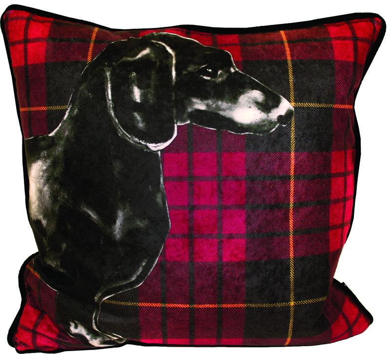 Pp Jimmie Martin Red Tartan Cushion from www.PetsPyjamas.com