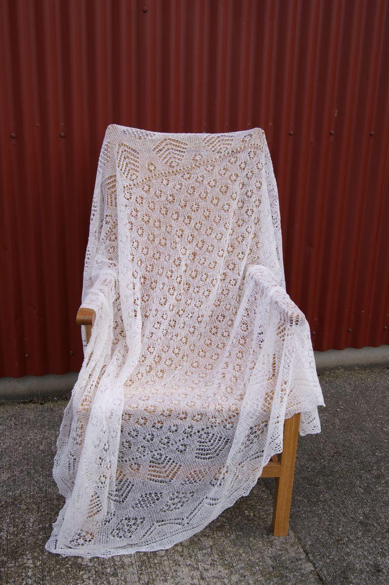 Sheila's Fowlie's shawl 1, October