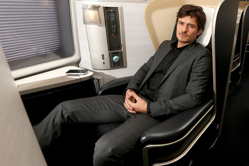Orlando Bloom in British Airways First - APPROVED CJP10026a