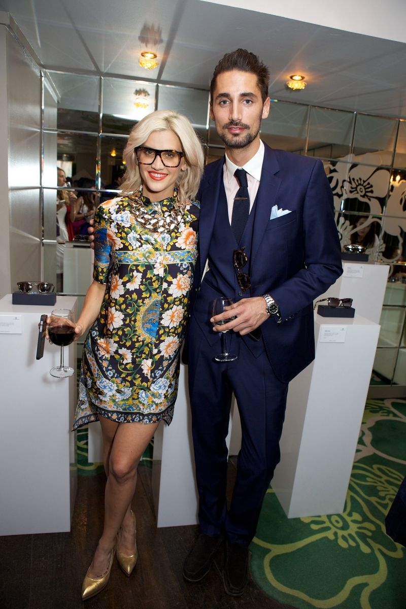 Ashley Roberts and Hugo Taylor Harvey Nichols Taylor Morris Party 20 5 14 copy