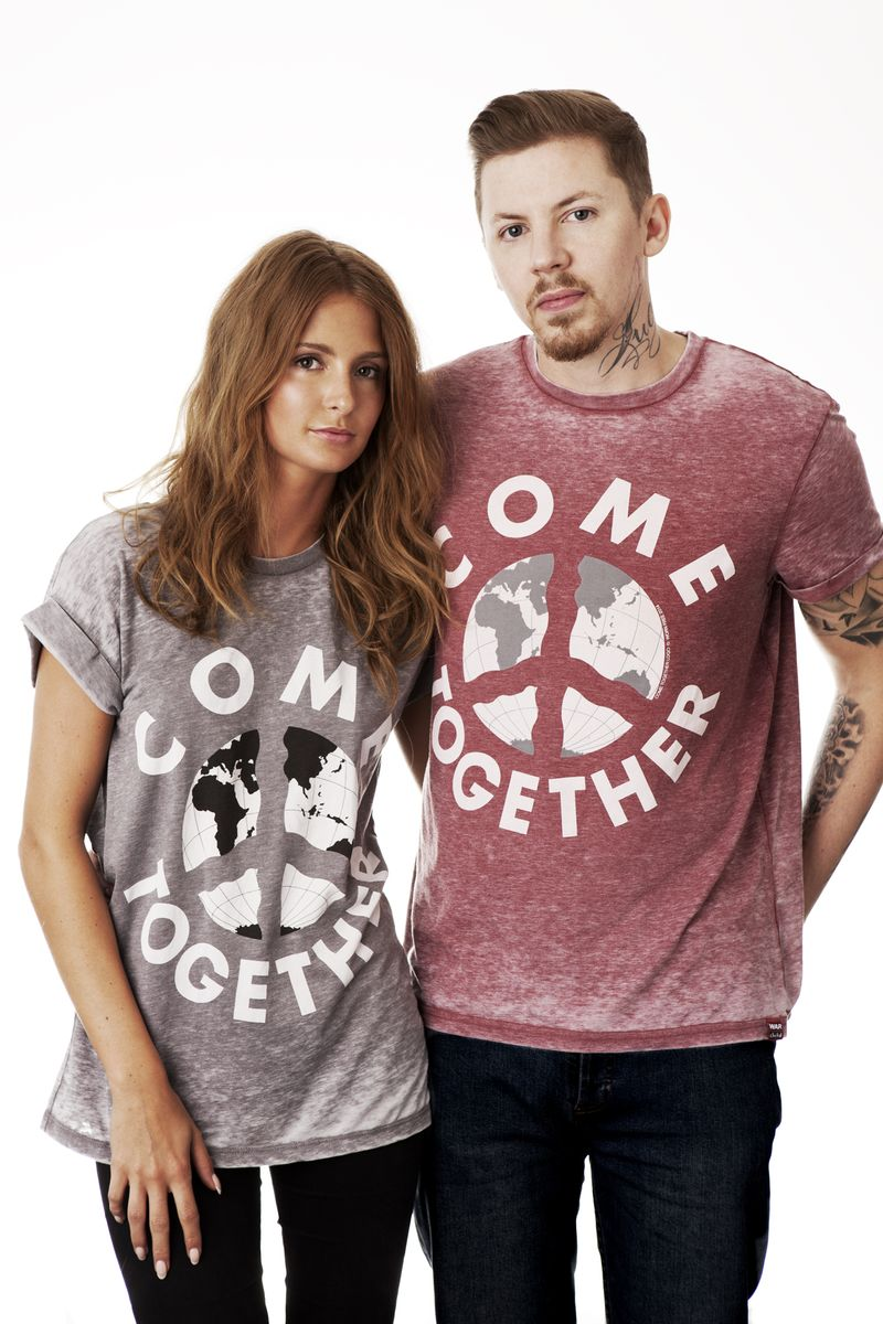 Professor Green and Millie Mackintosh wear war child 1