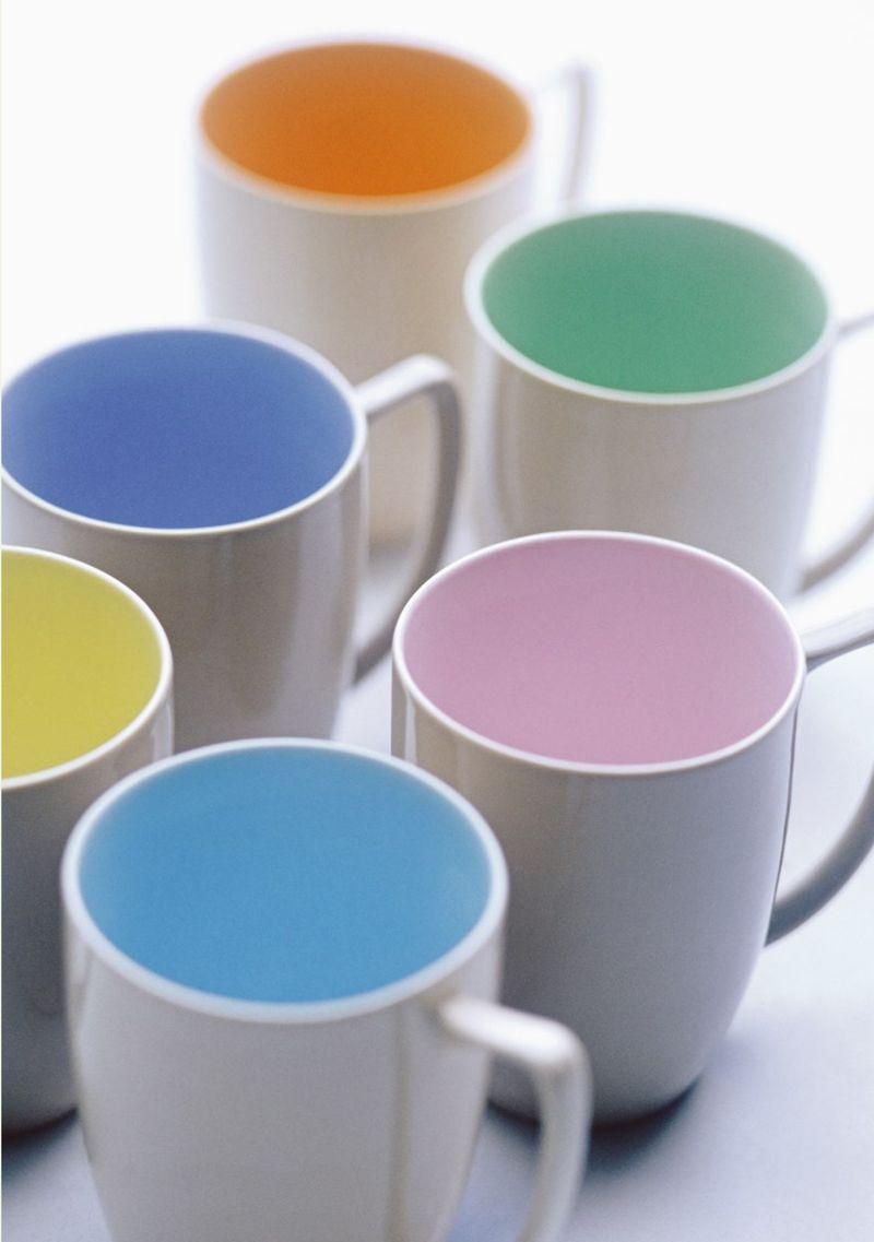 Branksome China - Mugs - Sahara with all colours - lifestyle - Portrait