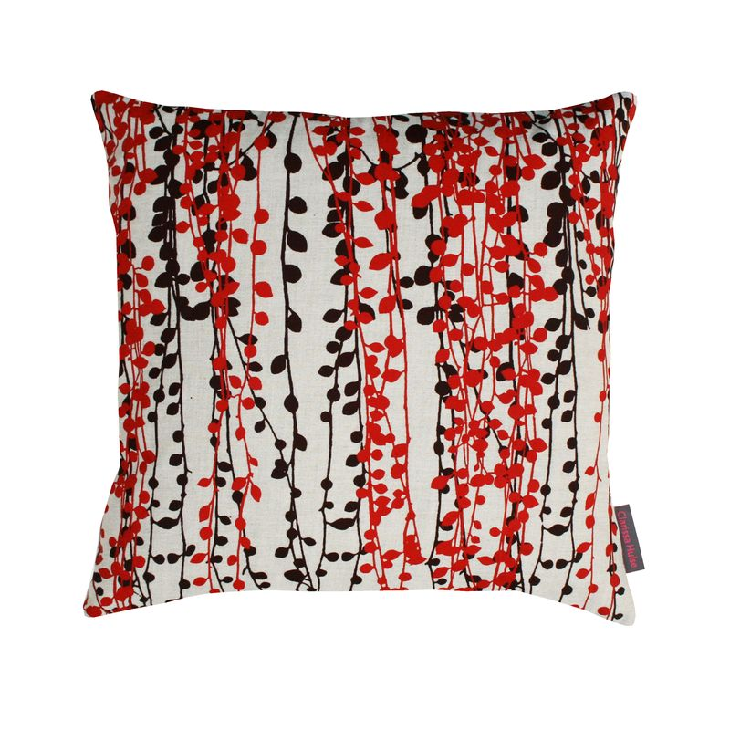 Clarissa Hulse String of Pearls linen cushion natural £35
