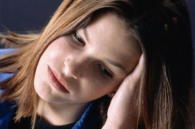 Teenage girl upset