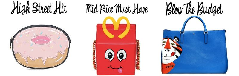 Novelty bags new look moschino anya hindmarch