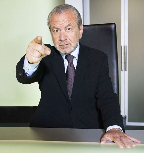 sir alan sugar & apprentice
