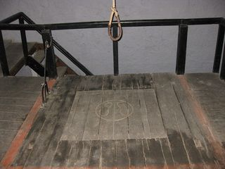 Gallows trap door