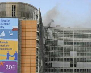 Berlaymont fire