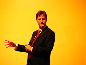 Nick Clegg addresses the Conference Rally in B...
