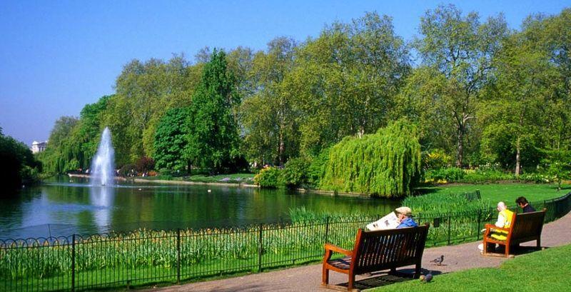 Lake in St-James's Park for blog