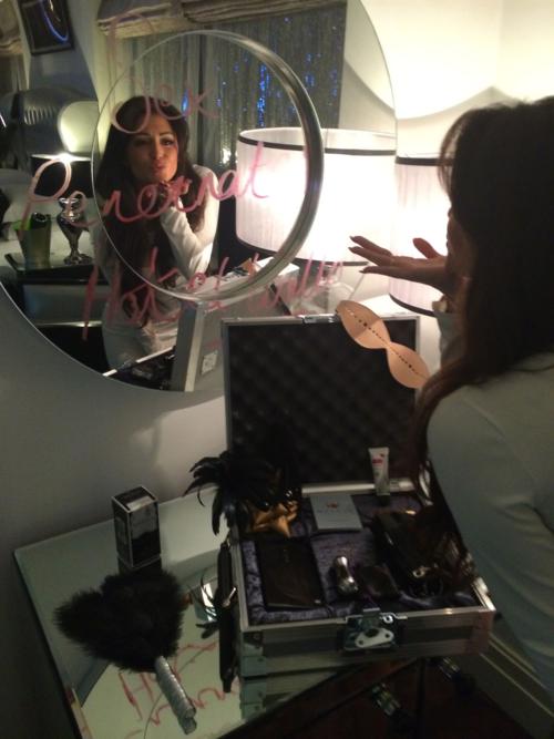 Casey Batchelor in mirror